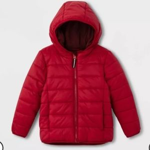 Cat & Jack Red quilted Puffer Coat
